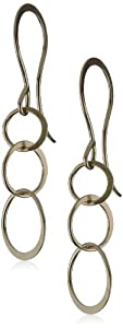 """Melissa Joy Manning """"MJM Classic"""" 14 Gold Hand made Chain Earrings"""