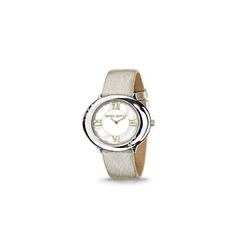Miss Sixty ミスシックスティー Ladies Watch Srk006 In Collection Fiesta, 2 H and S, White Dial and Gold Strap レディス 女性用 腕時計: 腕時計[並行輸入品]