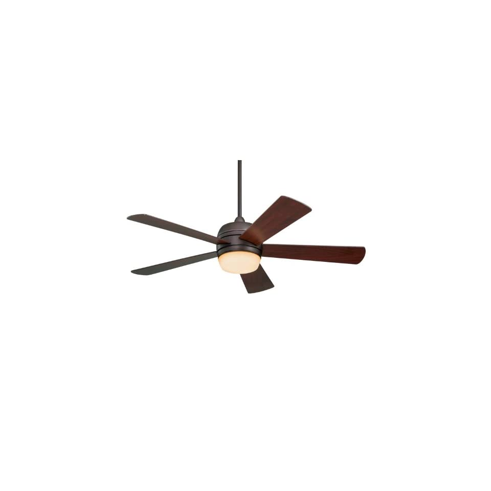 Emerson CF930ORB Atomical Indoor/Outdoor Ceiling Fan, 52 Inch Blade Span, Oil Rubbed Bronze Finish, Mahogany Blades and Amber Glass