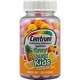 Centrum Kids Flavor Burst Chews Multivitamin - Tropical 120-Count (Pack of 3) by Centrum