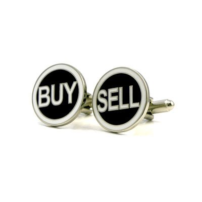 Buy and Sell Traders Cufflinks