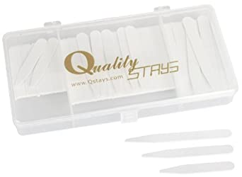 200 Plastic Collar Stays in a Box, 3 Sizes