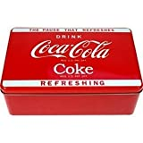 Coca Cola Box metall. 20,5 x 13 x 7 cm, rot weiss. Original Lizenzware. Coca Cola Reklame.von &#34;Jean P.&#34;