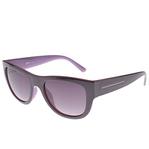 Iris Iris Eyewear IE115 Purple Wayfarer Unique Design Sunglasses (Violet)