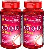 Puritan's Pride Q-sorb Coq-10 200 Mg 60 Softgels 2 Bottles