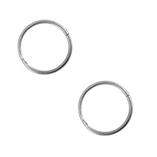 Studex Sensitive Sterling Silver Small 10mm 3/8 Inch 18GA Hinged Hoop Earrings (1mm Gem Stud compare prices)