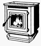 England'S Stove Works Pellet Stove Window Wood Pellet 1500 Sq. Ft.