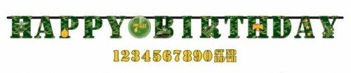 Military Camouflage Jumbo Letter Banner Kit (1ct)