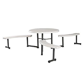 Lifetime 260205 Picnic Table, 44-Inch, Almond