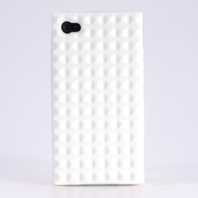 iphone 4 case Silikon Schutzhuelle Case Cover fuer iPhone 4G Raute #360 mit Displayfolie Folie