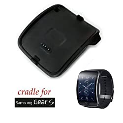 Charging Dock Cradle Charger fit for Samsung Galaxy Gear S Smart Watch SM-R750 (Black)