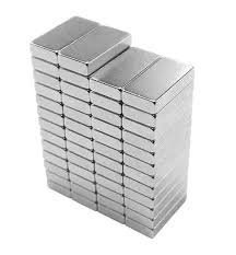 Perfect Magnets Nickel Coated Block Magnet Size- 10mm x 6mm x 2mm Thick Set of 50 Pieces.