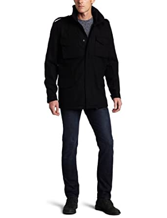 French Connection Men's Woolthorpe Manor Melton Coat男士羊毛大衣 黑$52.7