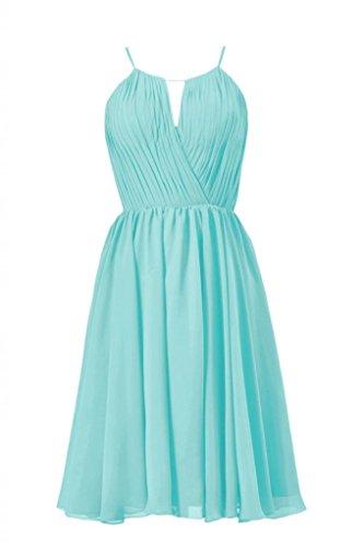 Daisyformals Scoop Neckline Knee Length Bridesmaid Dress(Bm10826S)- Tiffany Blue