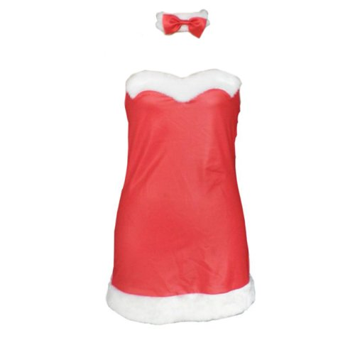 Christmas Cuture Costume Outfit - Red Bunny Girl Dress 2nd Kid Large
