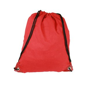 Red Drawstring Bag Backpack Rucksack School Book Bag Sport Gym Swim PE Football Karate Ju-Jitsu Running Swimming Boxing Judo Netball Bag 'Brand New'