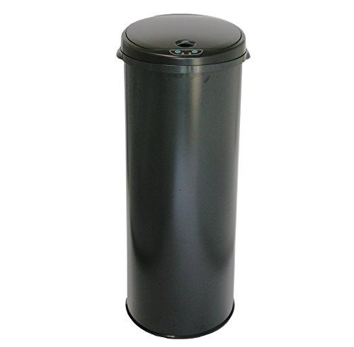 iTouchless Round Sensor Matte Deodorizer Finish Trash Can, 13-Gallon, Black (Wine Barrel Garbage Can compare prices)
