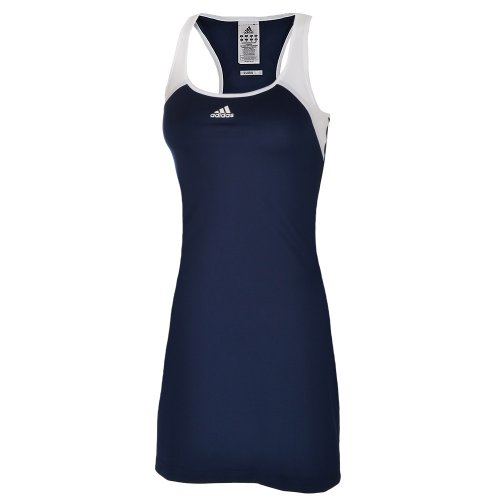 Adidas Womens Barricade Team ClimaLite Tennis Dress - Navy/White