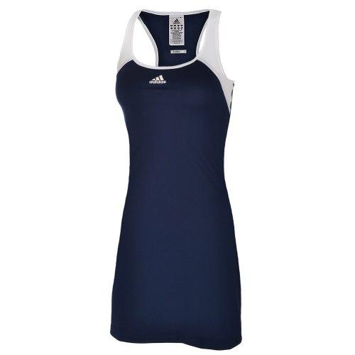Adidas Womens Barricade Team ClimaLite Tennis Dress - Navy/White