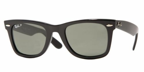 Ray-Ban RB2140 Original Wayfarer Sunglasses 54 mm, Polarized, Black/Polarized 1.8 Grey Gradient