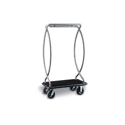 csl-2899bk-010-blk-euro-style-stainless-steel-finish-bellmans-cart-with-black-carpet-base-black-bump