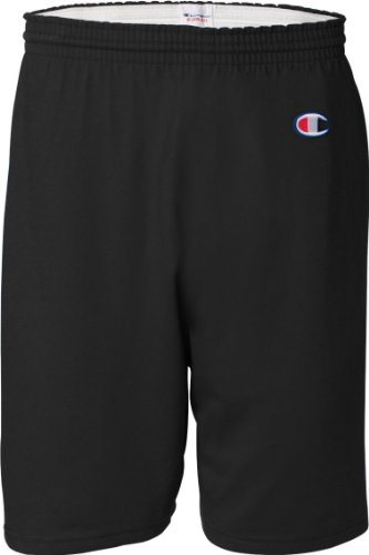 Champion 6 oz. Cotton Gym Short (8187)- BLACK,M