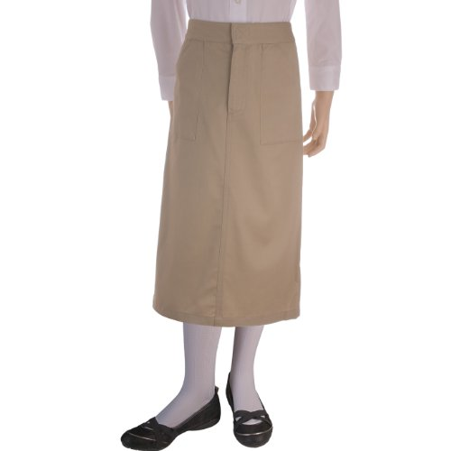 ... of French Toast School Uniforms Long Skirt Girls Khaki 14-1/2 Plus