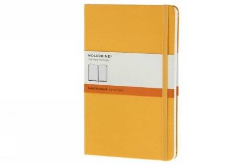 Moleskine Notebook Ruled Yellow Orange Large