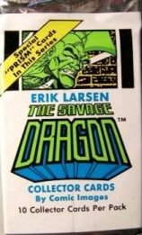 1992 Eric Larsen The Savage Dragon (Comic Images) Trading Card Booster Pack - 1