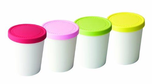 Tovolo Mini Sweet Treats Tubs - Set of 4 (Silicone Ice Cream Tub compare prices)