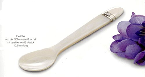 Pendentif nacre de l'embout süßwassermuschel- à œuf argenté