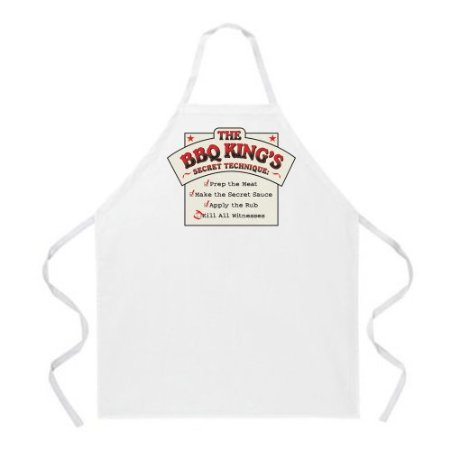 Attitude Apron BBQ King Recipe Apron, Natural, One Size Fits Most