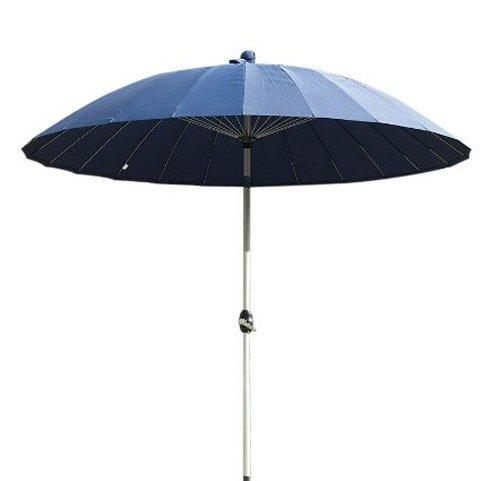 2.7 m Oriental Outdoor Garden Parasol - Blue