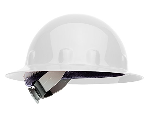 Fibre-Metal by Honeywell E1SW01A000 Super Eight Full Brim Swing Strap Hard Hat, White (White Full Brim Hard Hat compare prices)