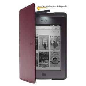 Funda de cuero con luz Amazon para Kindle Touch, color púrpura (sólo sirve para el Kindle Touch)