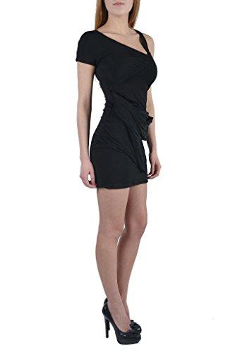 Just Cavalli Womens Stertch Asymmetrical Little Black Dress US 6 IT 42;