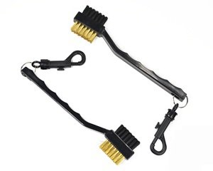 Cosmos pack of 2 Golf club cleaning brush with double sided (Brass & Nylon bristle)