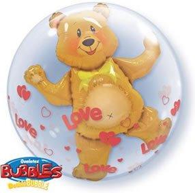 """Love Bear Bubble Balloon 24"""" High Quality Qualatex"""