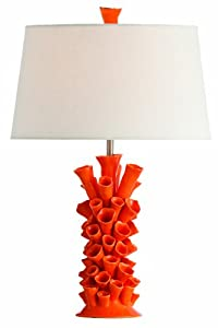 Arteriors Home 17387-522 Cassidy Orange Porcelain Lamp