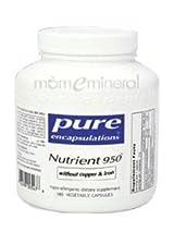 Nutrient 950 No CU & FE 180 Vegetarian Capsules by Pure Encapsulations