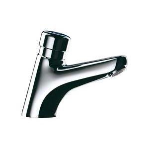 delabie robinet temporise tempostop 2 pour lavabo bouton poussoir avec securite anti blocage. Black Bedroom Furniture Sets. Home Design Ideas