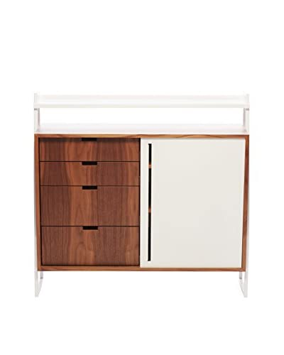 nine6 City Life Sideboard, Walnut/White