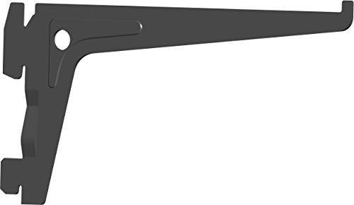 Element System PRO-Träger Regalträger 1-reihig, 2 Stück, 7 Abmessungen, 3 farben, lange 15 cm für Regalsystem, Wandschiene, schwarz, 18133-00001