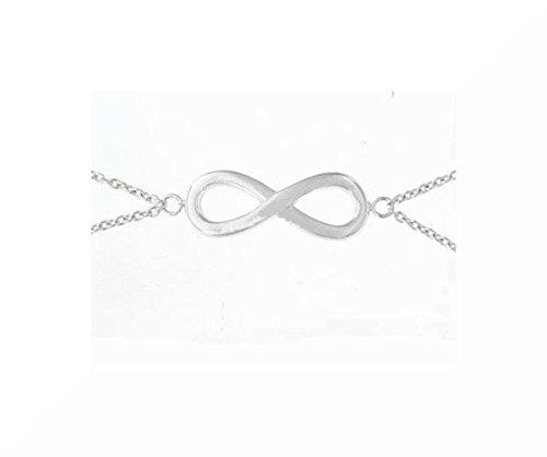 925argento infinity Bracciale 19cm/scatola regalo S51