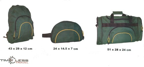 3 Teile Reise-Set Rucksack Kulturtasche/Beutel