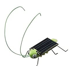 Solar Powered Grasshopper. Just Place in the Sun and Watch it s Legs Jiggle and Wiggle