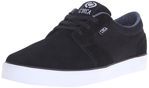 C1RCA Men's Hesh 2.0 Skate Shoe, Black/White, 13 M US