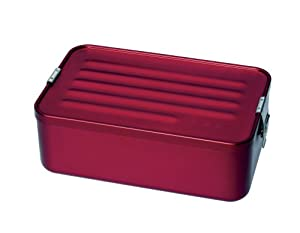 "Sigg Maxi Aluminum Box (9.0"" x 5.7"" 3.0"", Red Metallic)"
