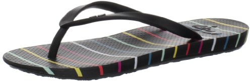 Roxy Women's Cabana Sandal,Black Stripe,9 B US