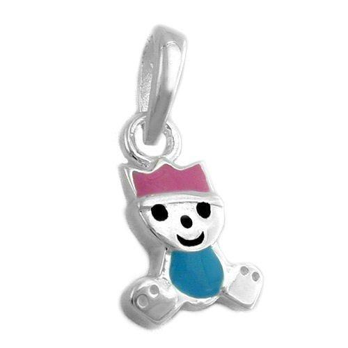 Colgante-el-principito-Colour-Rosa-Azul-claro-925-plata-veraplata-nios